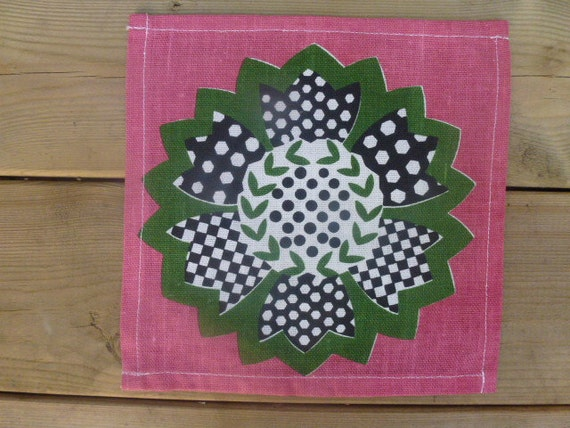 Vintage Swedish tablecloth / Small square tablecloth