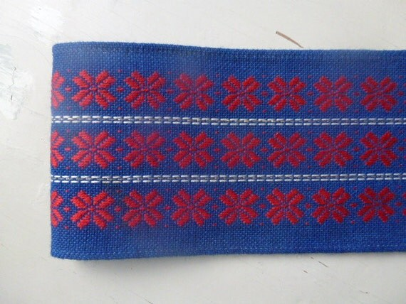 Vintage Swedish table runner