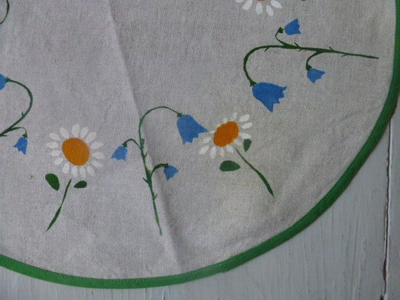 ON HOLD ////// Vintage Swedish tablecloth  / Hand printed linen