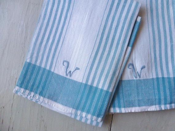 Vintage Swedish linen kitchen towel / Set of 2