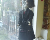 """OOAK Creepy Vampire Girl, """"Blue Dolores"""" named and signed by Clive Barker himself."""