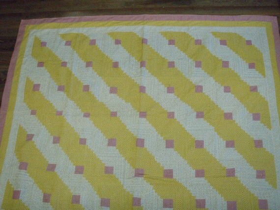 Listing for Kerry in Australia..Antique Log Cabin Quilt