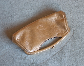 1960s GOLD Mad Men style clutch