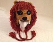 Crochet Harry Potter's Luna Lovegood's Gryffindor Lion Inspired Hat (Made to Order)
