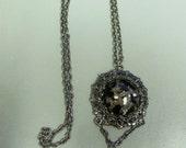 Black//Brown//Cabochon//Fringe Pendant//Necklace