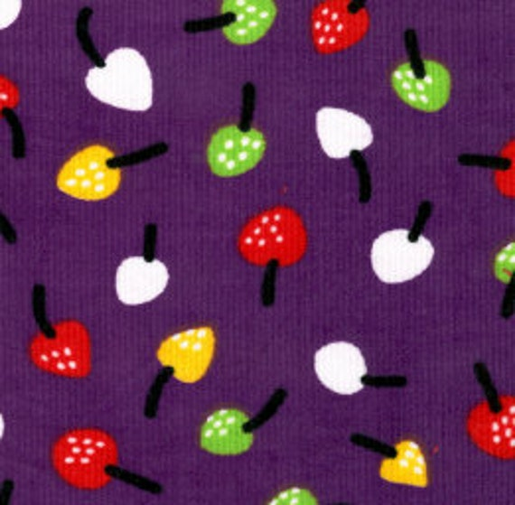 Corduroy-Fruit Print from Fabric Finders