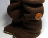 Baby Girl/Infant Boots, Brown Slouch Boots