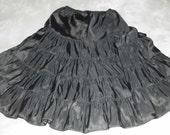 Vintage Barbizon Black Petticoat Four Tier 1960s  Slip  Small - Mad Men