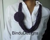 Necklace Crocheted in Purple