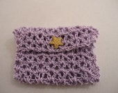 Crocheted GiftCard Holder Pale Purple crochet giftcard-holder Handmade giftcard-holder