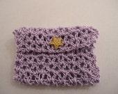 Crocheted GiftCard Holder Pale Purple crochet giftcard-holder Handmade giftcard-holder