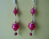 Earrings, Pink Dreams