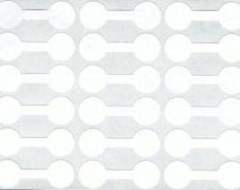 White jewelry price tag sticker 12mm (421) - Flat rate shipping