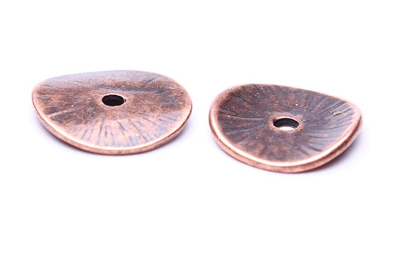 15mm antique copper rustic bead caps - rustic beadcaps - bead spacers - Nickel free - Lead free (458) - Flat rate shipping