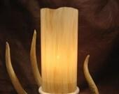 "Glass hurricane candle shade - 7"" pillar - Cedar"