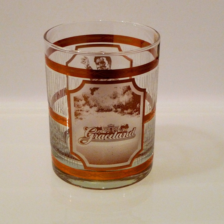 Elvis Graceland Glasses Tumbler 22K Gold Culver by ...