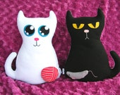 Good Cat Bad Cat  - Felt Plushie