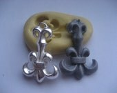 Long Fleur De Lis (33mm) silicone flexible miniature mold for polymer clay, resin, fondant, clay, mini foods, chocolate, and more