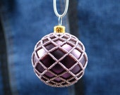 Instant Download Beading Pattern Tutorial for Netted Bulb Beaded Ornament Cover Step by Step with Photos PDF