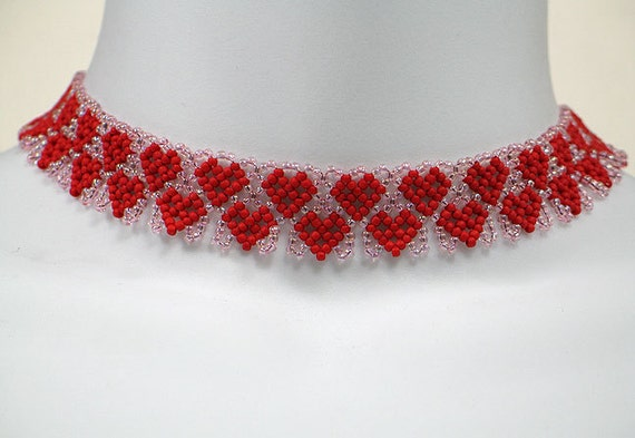 Instant Download Beading Pattern Seed Beaded Necklace Step By