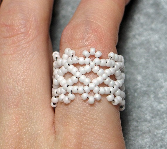 Instant Download Beading Pattern Tutorial Seed Beaded Ring