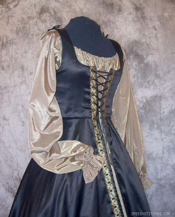 Medieval Noble Gown, Custom made Renaissance Dress, Princess Halloween, Fairy Tale Cosplay Costume, Renaissance Chemise, LARP Custom Dress