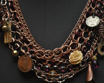 Copper Multi Chain Necklace