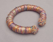 Colorful thread bracelet from Mali
