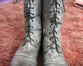 Washed-Out Gray Boots Women's Size 9