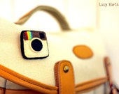 Instagram Felt Pin - Made to Order (Free shipping special)