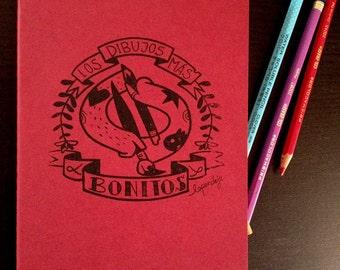 """Pack de 2 libretas de color rojo """"Los Dibujos Más Bonitos"""""""