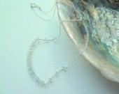 Blue Topaz Button Bar Necklace - b.o.r.e.a.s -