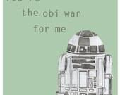 Star Wars 'Obi Wan' Slogan Card