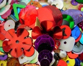 Mixed Loose Sequins 10g Multi Coloured Assorted Novelty Shapes Grab bag