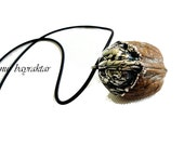 In a Nutshell - Exclusive real Walnut Necklace Silver Plated by hand