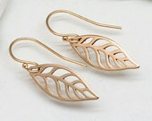 Gold Leaf Earrings,Bronze,14K gold Filled,Fall Jewelry, Harvest,Nature,Woodland,Leaves
