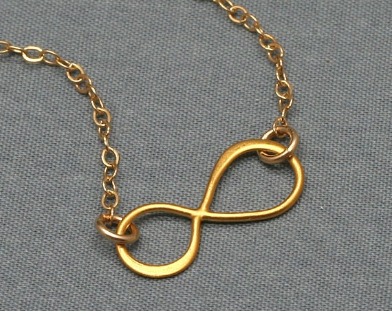 Gold INFINITY Necklace, 24K Gold Vermeil, 14K Gold Filled , Love, Eternity, Simple, Delicate, Minimalist, Figure Eight