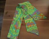 Groovy Vintage Tie/Scarf Multicolor Neon Retro