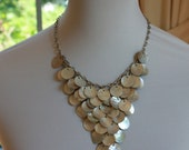 Stunning Vintage Flat Shell Necklace