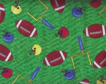 Football Fabric, Sports Fabric, Footballs, Blank Quilting, 1 yard fabric, 03046