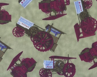 Fat Quarter, Tractors, Farm Fabric, Tractor Fabric, Titan International Harvester Fabric, 00353