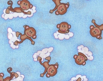 Cloud Play, Blue Fabric, Monkey Fabric, Boy Fabric, Cloud Play, 01899