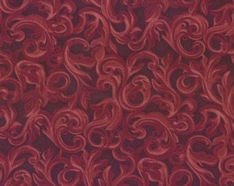 Sale, Western Fabric, Fiona by Blank Quilting, Rust Tooled Fabric, Garnet Fabric, Brown Fabric, 1 yard fabric, 00134