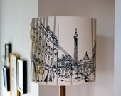 Newcastle Grey Street Hand Printed Lampshade