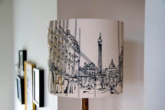 Newcastle Grey Street Hand Printed Lampshade