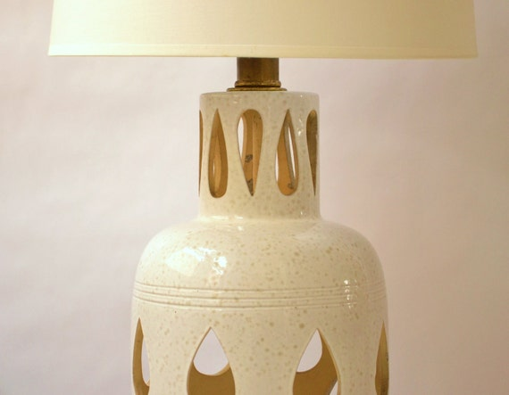 1960s lamp with retro teardrop design