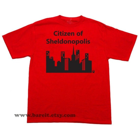 Citizen Of Sheldonopolis Simcity Inspired by The Big Bang Theory Geek Funny Humor Tshirt Unisex Size Small Medium Large XLarge