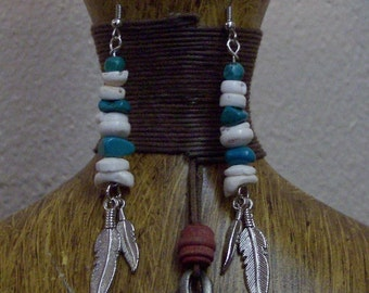 Shells Turquoise and Feathers