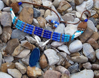 Shades Of Blue Choker Necklace
