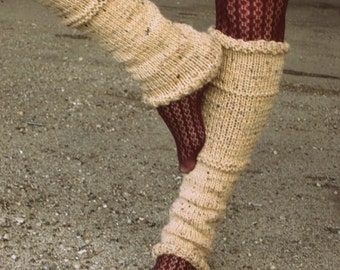 Leg Warmers Knit Leg Warmers Tan Leg Warmers Teen Leg Warmers Womens Leg Warmers - MADE TO ORDER